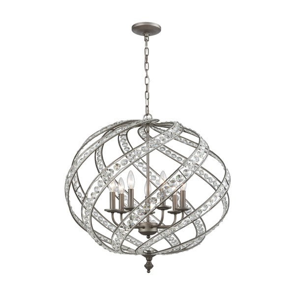 Renaissance 7-Light Pendant, Weathered Zinc