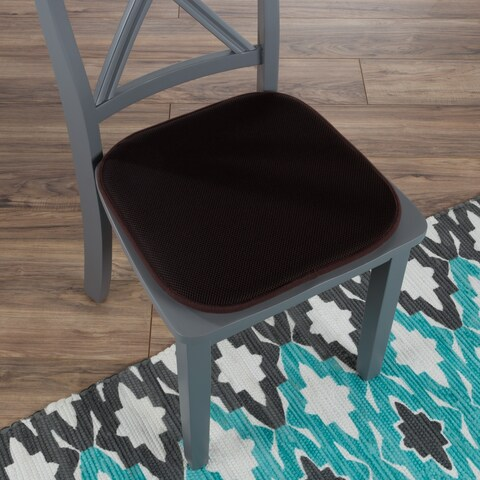 """Memory Foam Chair Cushion-Square 16""""x 16"""" Chair Pad with Non-Slip Backing for Kitchen, Dining Room, Patio by Windsor Home"""