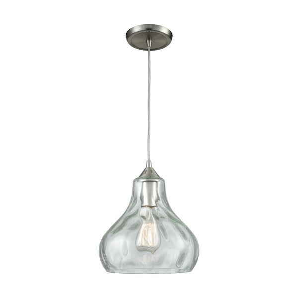 Belmont 1-Light Pendant, Satin Nickel