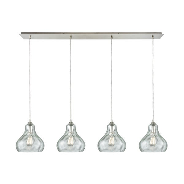 Elk Lighting Belmont: Shop Belmont 4-Light Linear Pan Pendant, Satin Nickel