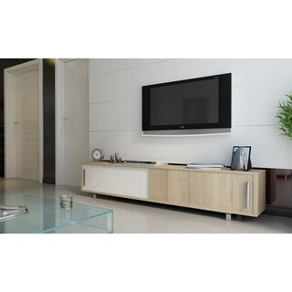 "Decorotika Classy Sliding Door 71"" TV Media Stand (4 options available)"