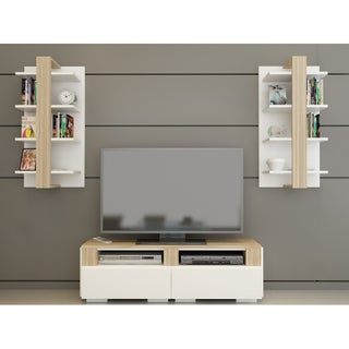 """Decorotika Buruni 78"""" Multifunctional Entertainment Center with Wall Shelves (2 options available)"""