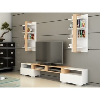 "Decorotika Buruni 78"" Multifunctional Entertainment Center with Wall Shelves"