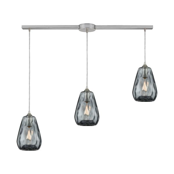 Tulare 3-Light Linear Bar Pendant, Satin Nickel