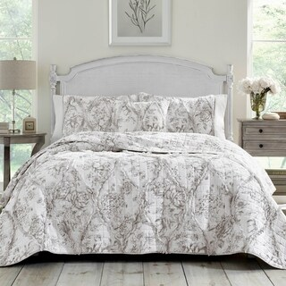 Laura Ashley Lena Grey Quilt