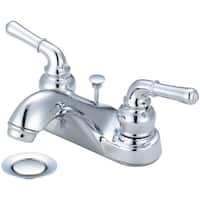 Accent Two Handle Low Arc Bath Faucet with Pop Up Drain