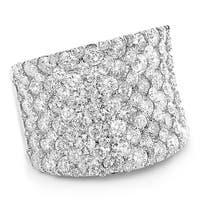 Unique Diamond Wedding Bands: 8 carat Ladies Pave G-H Diamonds Ring 14k Gold 8ctw by Luxurman