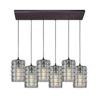 Murieta 6-Light Rectangular Pan Pendant, Oil Rubbed Bronze