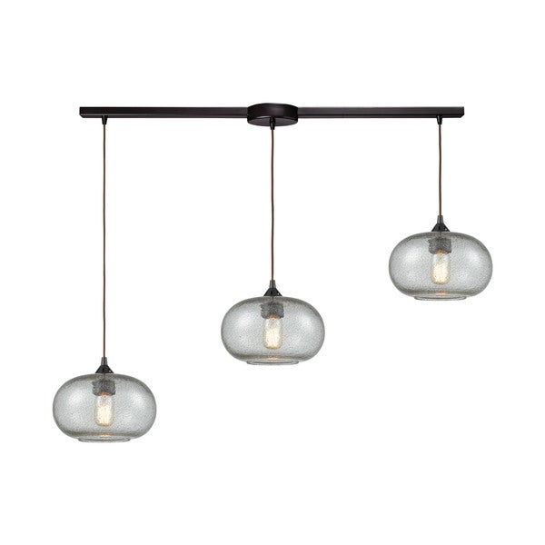 Volace 3-Light Linear Bar Pendant, Oil Rubbed Bronze