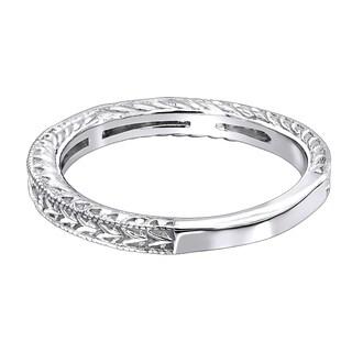 Ladies 14K Gold Princess Cut Diamond Wedding Band Vintage Style 0.5ctw by Luxurman