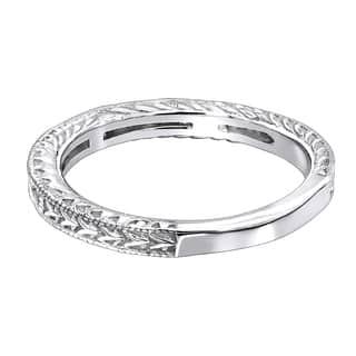 Las 14k Gold Princess Cut Diamond Wedding Band Vintage Style 0 5ctw By Luxurman