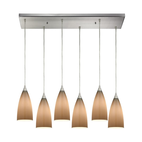 Vesta 6-Light Rectangular Pan Pendant, Satin Nickel