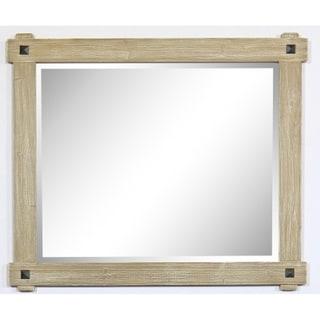 "42"" Rustic Wood Framed Mirror in Driftwood Finish - wk8242 - A/N"
