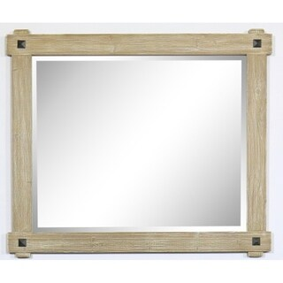"42"" Rustic Wood Framed Mirror in Driftwood Finish - wk8242 - N/A"