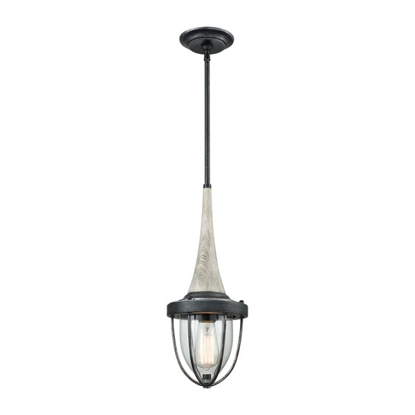 Sturgis 1-Light Pendant, Silvered Graphite