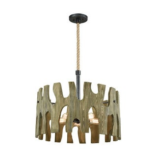 Driftwood Cove 5-Light Pendant, Silvered Graphite