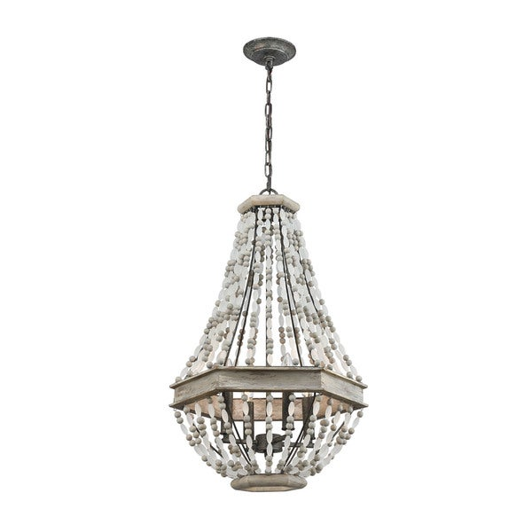 Summerton 4-Light Pendant, Washed Gray/Malted Rust