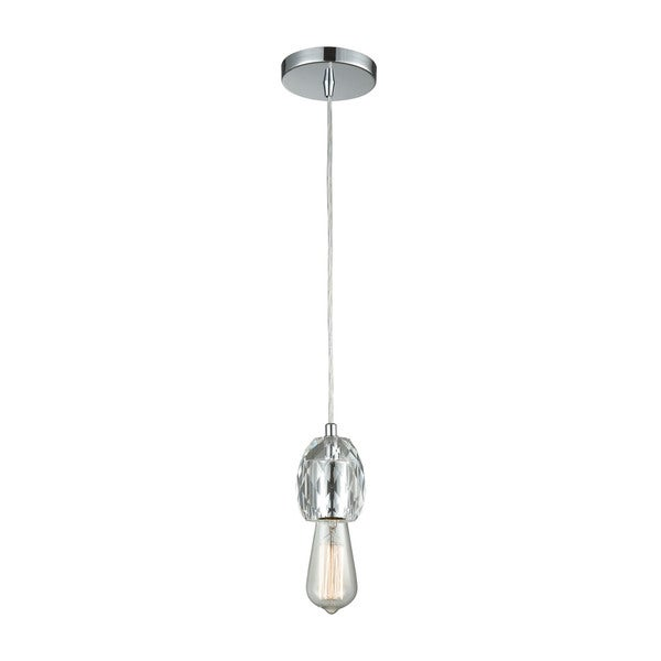 Socketholder 1-Light Pendant, Polished Chrome