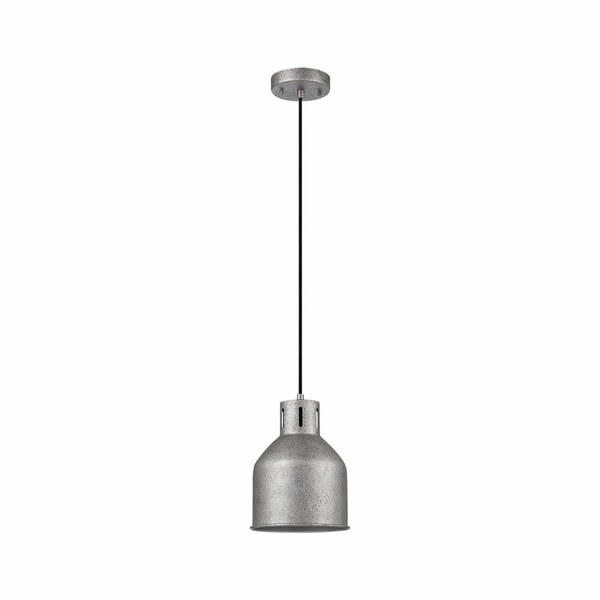 Bronn 1-Light Pendant, Galvanized Finish