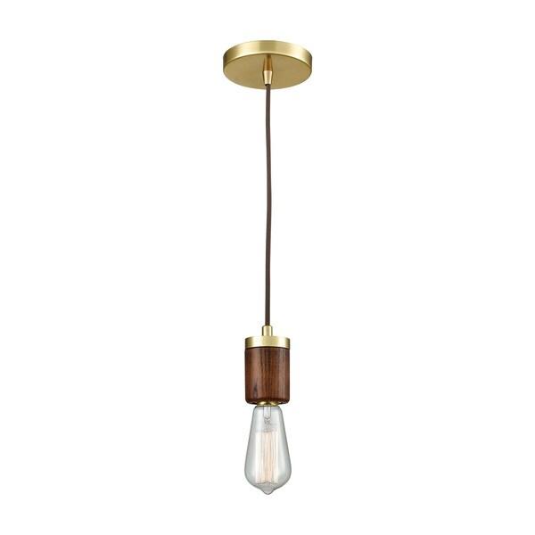 Socketholder 1-Light Pendant, Satin Brass