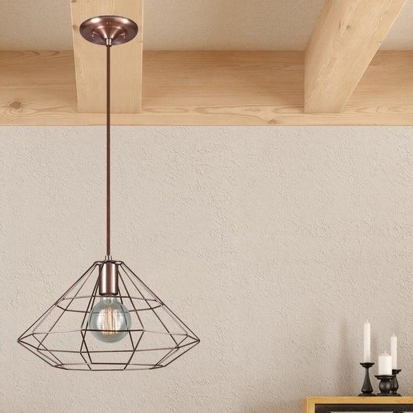 Carbon Loft Mantzoukas 1-light Copper Finish Cage Pendant