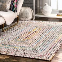 "The Curated Nomad Ivory Grove Handmade Braided Area Rug - 7' 6"" x 9' 6"""