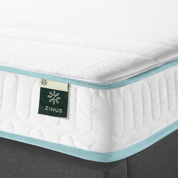 Zinus 6 Inch Mint Green Memory Foam Hybrid Spring Mattress Full