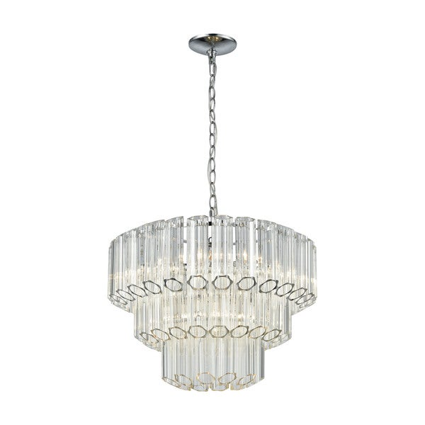 Carrington 4-Light Pendant, Polished Chrome