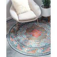 Unique Loom Malecon Baracoa Round Rug - 8' 4 x 8' 4