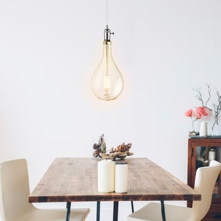 Oversized Vintage Style 40W Equivalent Soft White (2200K) Dimmable LED Light Bulb, E26 Base, 500 Lumens