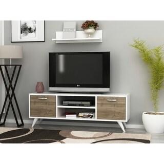 "Decorotika Bella 47"" TV Media Stand with Wall Shelf"