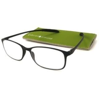 Gabriel + Simone Flexi-Grande Black Unisex Reading Glasses