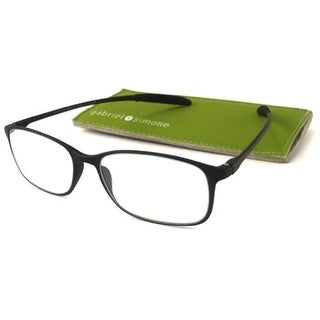 Gabriel + Simone Flexi-Grande Black Unisex Reading Glasses