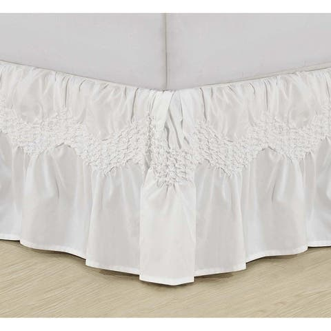 Elegant Comfort Wrinkle Resistant Puff Collection Ruffled Bedskirt