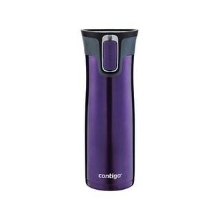 Contigo Autoseal West Loop Tumbler Purple Stainless Steel Travel Mug 20 oz.