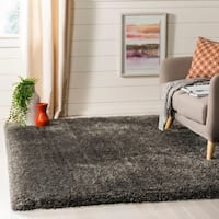 "Safavieh Flokati Shag Modern & Contemporary Charcoal Polyester Rug - 2'7"" x 5'"