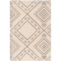 Safavieh Hand-Tufted Casablanca Modern & Contemporary Ivory / Grey Polyester Rug - 4' x 6'
