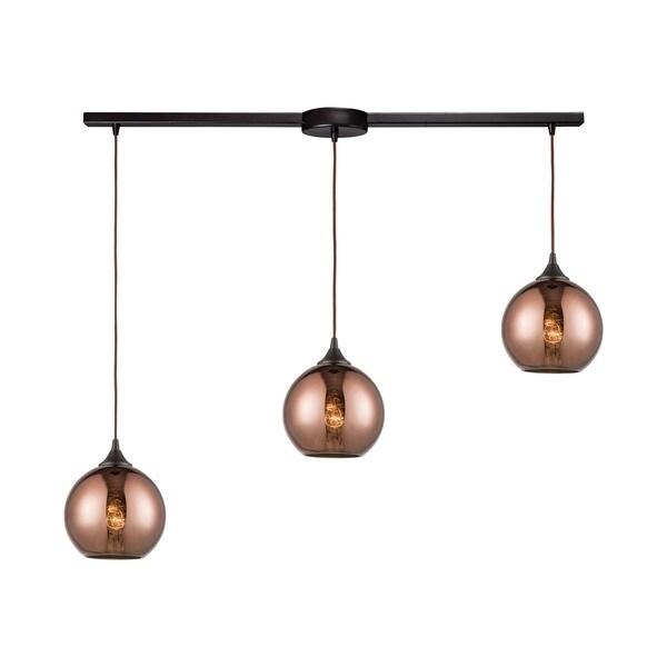Copperhead 3-Light Linear Bar Pendant, Oil Rubbed Bronze