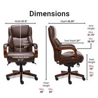 La-Z-Boy Delano Executive Office Chair in Brown Bonded Leather