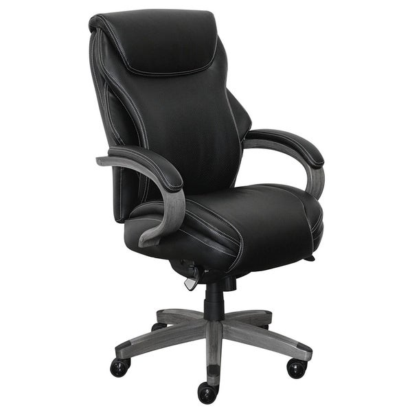La-Z-Boy Hyland Executive Office Chair with AIR Technology in Black Bonded Leather