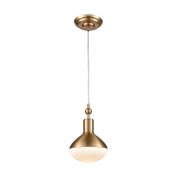 Ravette 1-Light Pendant, Satin Brass