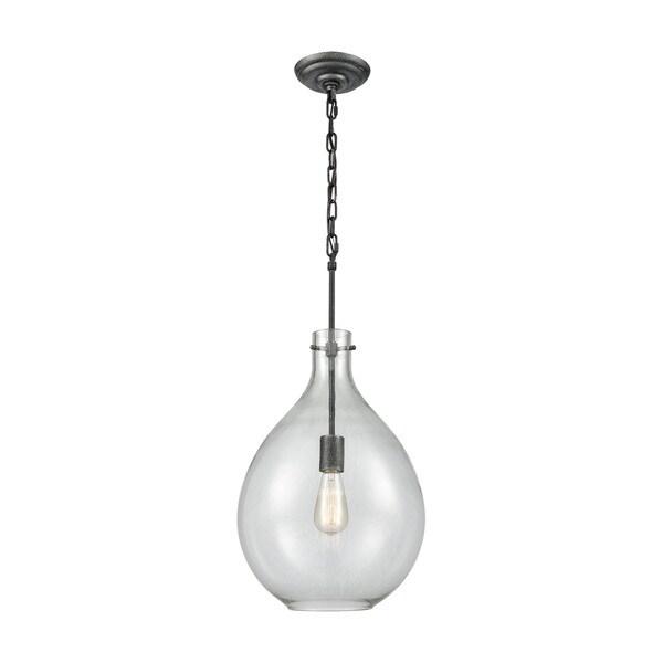 Sunderland 1-Light Pendant, Silvered Graphite