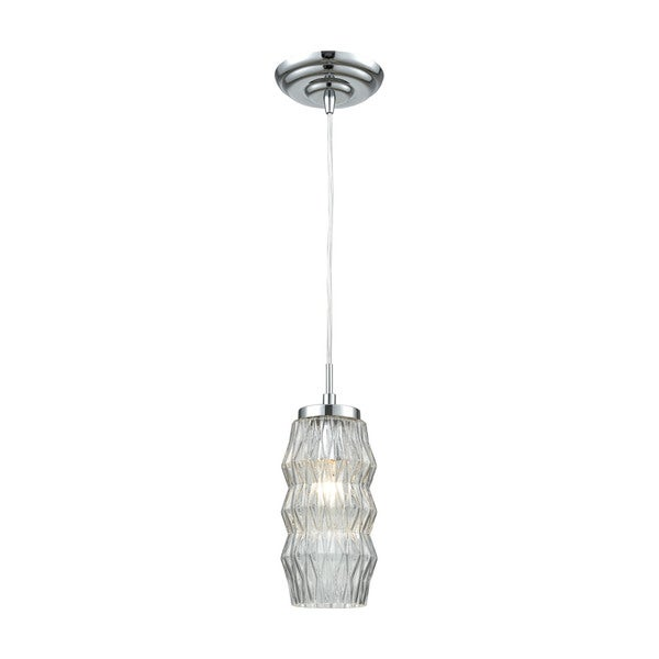 Zigzag 1-Light Pendant, Polished Chrome