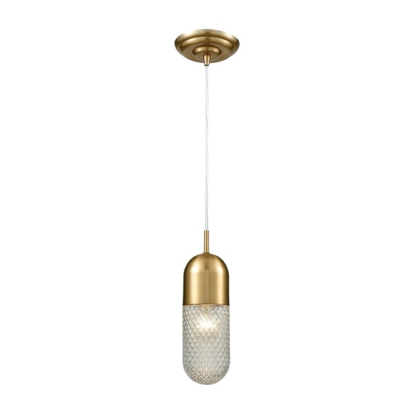 Capsula 1-Light Pendant, Satin Brass