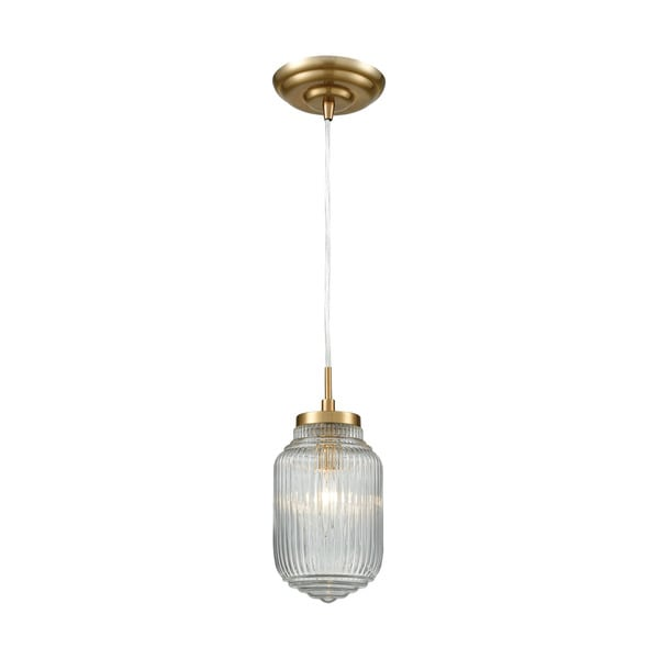 Dubois 1-Light Pendant, Satin Brass