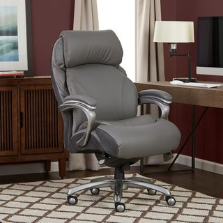 Ordinaire Serta Big And Tall Executive Office Chair With Smart Layers Technology,  Executive Gray Bonded Leather