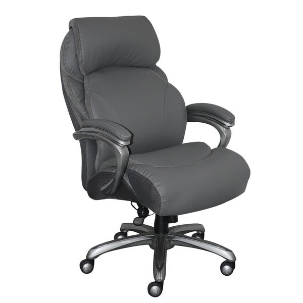Serta And Tall Executive Office Chair With Smart Layers Technology Gray Bonded Leather