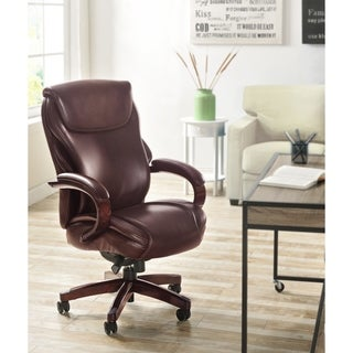 La-Z-Boy Hyland Executive Office Chair with AIR Technology in Brown Bonded Leather