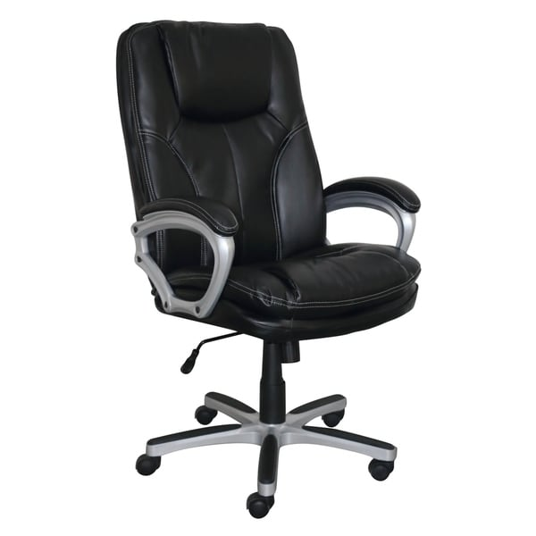 Serta Executive Big&Tall Office Chair, Puresoft® Faux Leather, Executive Black
