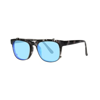 Anarchy Unify Men's Black Demi Frame with Mirrored Lens Sunglasses